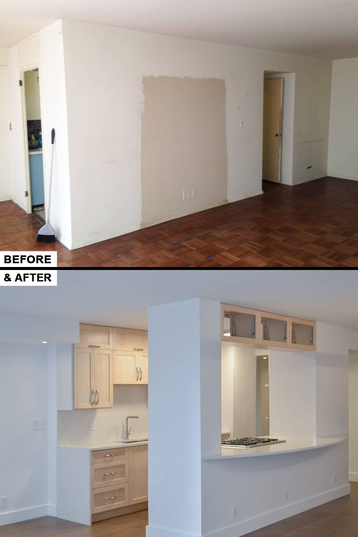 UWS Kitchen Renovation Before and After